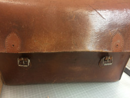 details from a vintage bag