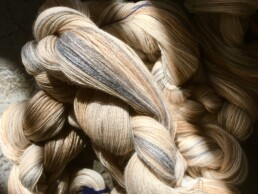 the yarn for the plaids