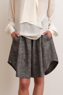 Shorts and blouse. Sustainable luxury fashion.